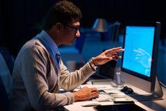 Analyzing information Stock Image