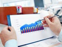 Analyzing Investment Charts Stock Photo