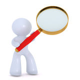 Analyzing with magnifing glass Stock Images