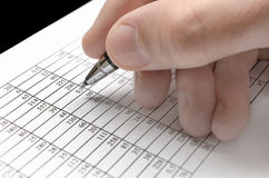 Analyzing numbers Stock Photography