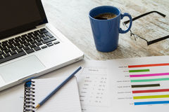 Analyzing numbers and tax Stock Photography