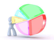 Analyzing the Pie chart stock illustration