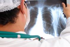 Analyzing X-Ray Stock Image