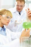 Analyzing reagents Stock Images