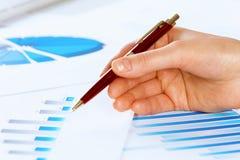 Analyzing report Stock Photo