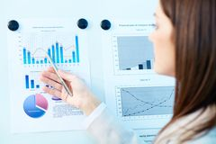 Analyzing results Stock Photo