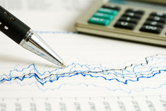 Financial graphs and charts accounting Stock Images
