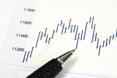 Analyzing the stock market Royalty Free Stock Photos