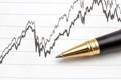 Analyzing the stock market Stock Photo