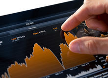 Analyzing Stock Market Chart Stock Photography