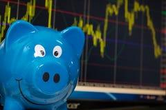 Analyzing stock market chart Royalty Free Stock Photo