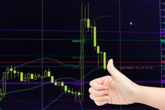 Analyzing stock market chart Royalty Free Stock Images