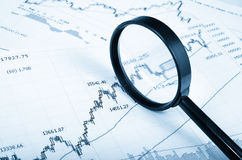 Analyzing the stock market Stock Image
