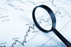 Analyzing the stock market Stock Image