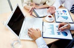Analyzing strategies Royalty Free Stock Photos