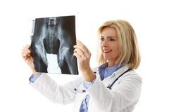 Analyzing x-ray image Stock Photography