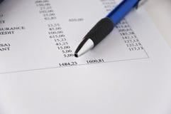 analyzing3财务的数据 免版税库存照片