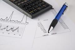 analyzing4财务的数据 免版税库存照片