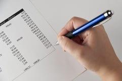 analyzing7 στοιχεία οικονομικά στοκ εικόνες