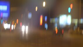 Anamorphfic colorful bokeh city lights.  stock footage