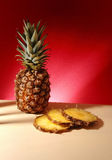 Ananas. Fresh ananas on the beige background Royalty Free Stock Photography