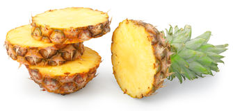 Ananas affettato Fotografia Stock