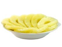 Ananas auf Teller 2 Lizenzfreie Stockfotografie
