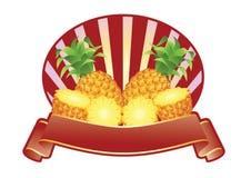 Ananas-Aufkleber Stockbild