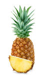 Ananas avec des tranches d'isolement photos stock