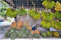 Ananas, Bananen und Papaya Stockfoto
