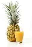Ananas con spremuta Fotografia Stock