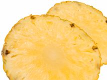 Ananas coupé en tranches Image stock