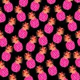Ananas czernić rozciągliwość cukierki owoc i różowić Zdjęcia Stock