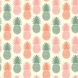 Ananas d'annata senza cuciture Fotografie Stock Libere da Diritti