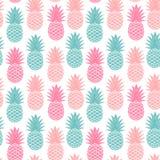 Ananas d'annata senza cuciture Fotografia Stock