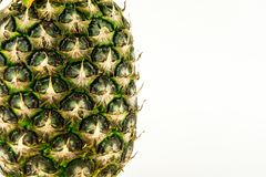 Ananas d'isolement sur le fond blanc Fruit d'été Photos stock