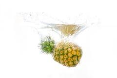 Ananas dans l'eau photo stock