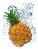 Ananas dans l'eau Image libre de droits