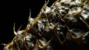 Ananas in der Rotation stock footage