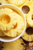 Ananas details van verse ananas Royalty-vrije Stock Afbeeldingen