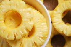 Ananas details van verse ananas Stock Afbeelding