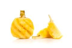 Ananas die op wit wordt geïsoleerdT Stock Afbeelding
