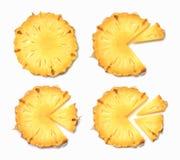 Ananas e fette sul plateau del thw immagini stock libere da diritti