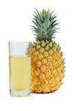 Ananas e spremuta Fotografia Stock