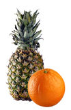 Ananas ed arancio Fotografia Stock Libera da Diritti