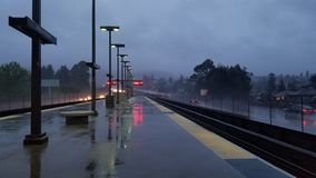 Ananas Ekspresowa ulewa Uderza San Fransisco zatoki teren obrazy stock