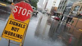 Ananas Ekspresowa ulewa Uderza San Fransisco zatoki teren obrazy royalty free