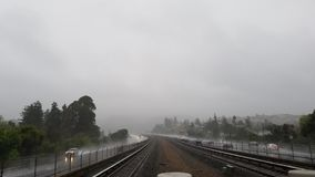 Ananas Ekspresowa ulewa Uderza San Fransisco zatoki teren zdjęcia stock