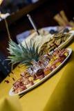 Ananas en acier de nourriture Image libre de droits