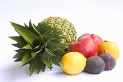 Ananas en andere vruchten Stock Fotografie